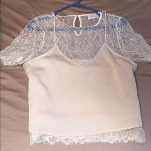 Double layered lace top